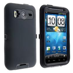 INSTEN Black Hybrid Phone Case Cover for HTC Inspire 4G/ Desire HD