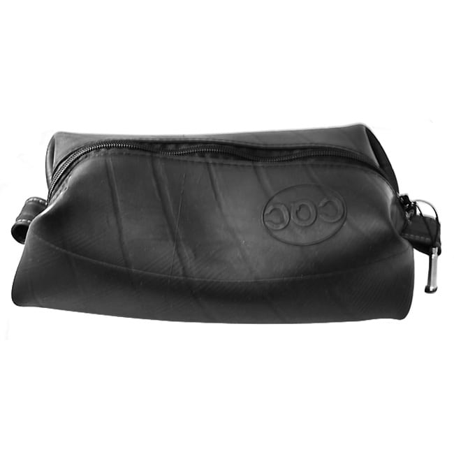Black Unlined Recycled-rubber Elliot Toiletry Travel Dop Kit