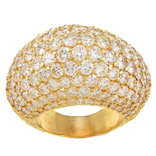 18k Yellow Gold 11ct TDW Diamond Estate Dome Ring (F-G, VS1-VS2)