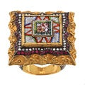 Ehran Gursen 24k Gold Ruby and 1ct TDW Diamond Estate Ring (J-K, VS1-VS2)