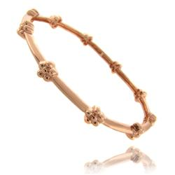 Molly and Emma Rose Gold Overlay Children's Flower Bracelet