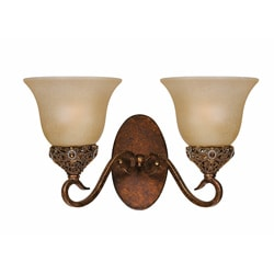 Crown Jewel Antique Gold 2-light Wall Sconce