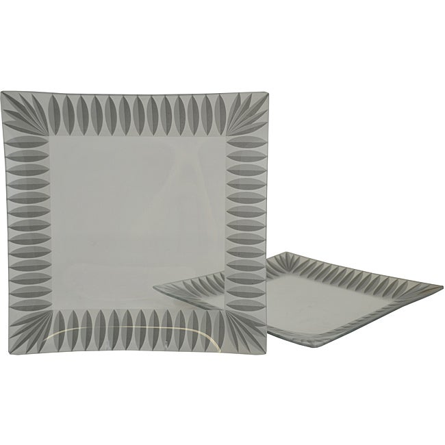 Silver Scallop Platters (Set of 2)