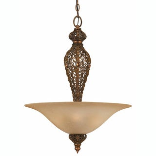 Crown Jewel Antique Gold Leaf 4-Light Pendant