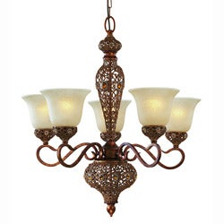 Triarch International Crown Jewel 5-light Antique Gold Chandelier