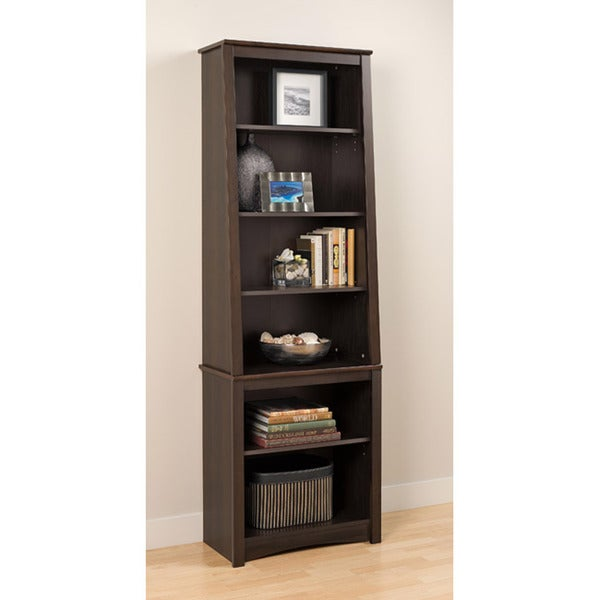 Everett Espresso Slant Back Bookcase 14012099