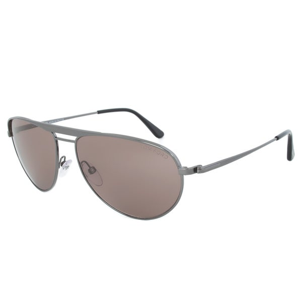 Tom Ford William Gunmetal Brown Aviator Sunglasses