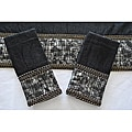 Sherry Kline 'It's a Croc' Black 3-piece Decorative Towels
