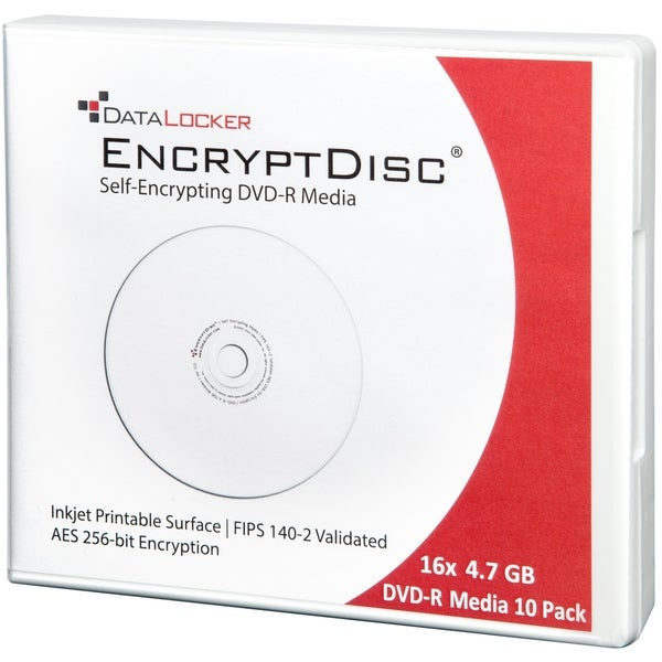 DataLocker EncryptDisc DVD-R 10 Pack Self-Encrypting Optical Media