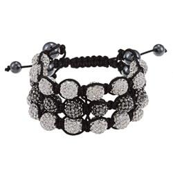 La Preciosa Hematite and Crystal Macrame Bracelet