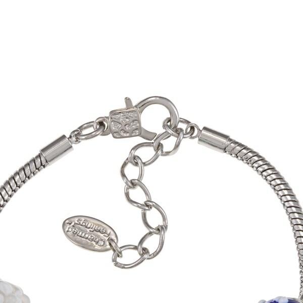 La Preciosa Glass Bead and Flower Charm Bracelet 8652596
