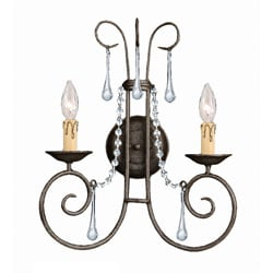 Soho Dark Rust 2-light Wall Sconce