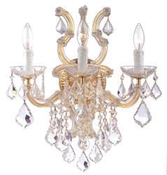 Crystorama Maria Theresa Polished Goldtone 3-light Wall Sconce