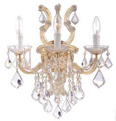 Crystorama Maria Theresa Polished Goldtone 3-light Wall Sconce