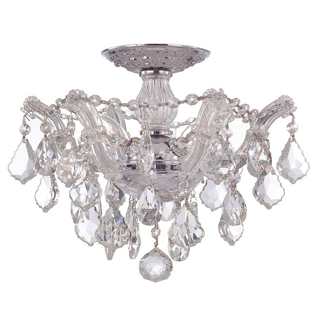 Crystorama Maria Theresa 3-light Semi-Flush in Chrome