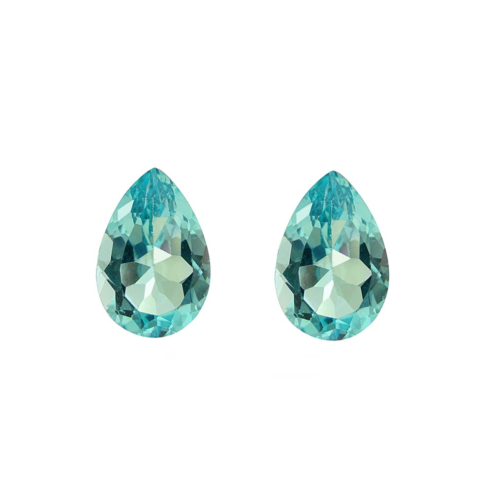 Glitzy Rocks Pear-cut 9x6mm 3ct TGW Blue Topaz Stones (Set of 2)