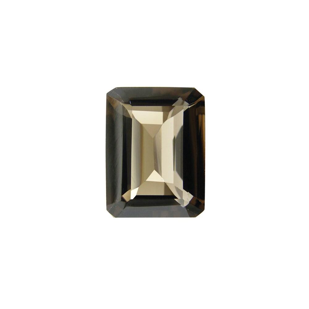 Glitzy Rocks Emerald-cut 16x12mm 11 1/2ct TGW Smokey Quartz Stone