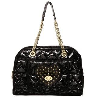 Betseyville By Betsey Johnson 'Be Mine' Black Satchel Handbag