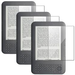 Anti-Glare Screen Protector for Amazon Kindle 3 (Pack of 3)