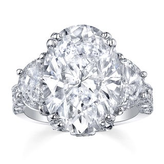 Platinum 12 1/3ct TDW Certified Diamond Ring (H-I, SI2-SI3)