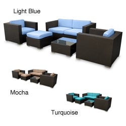 Malibu Collection 5-piece Wicker Outdoor Sectional Set