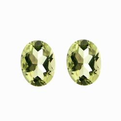 Glitzy Rocks Oval-cut 8x6mm 2 1/10ct TGW Lime Quartz Stones (Set of 2)