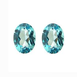 Glitzy Rocks Oval-cut 8x6mm 3ct TGW Swiss Blue Topaz Stones (Set of 2)