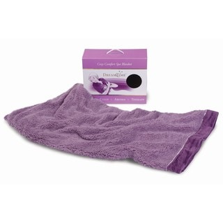 DreamTime Cozy Comfort Purple Plush Sherpa Hot and Cold Aromatherapy Blanket