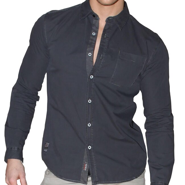191 Unlimited Men's Button-front Slim Fit Shirt