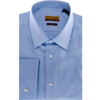 Enzo Tovare Men's Blue Cotton Dress Shirt