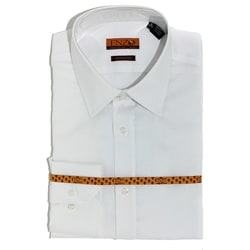 Men's White Satin Cotton Slim Fit Shirt