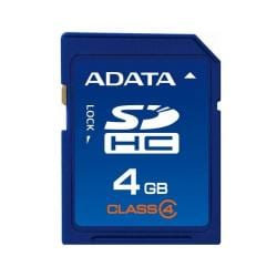 A-Data 4GB SDHC Class 4 Flash Memory Card