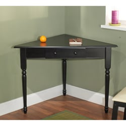Black Corner Desk with Turned Legs