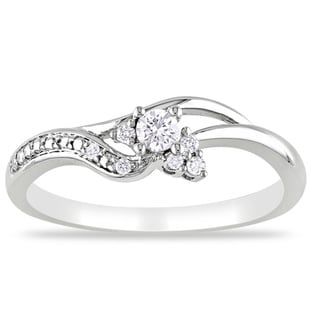 Miadora 10k White Gold 1/6ct TDW Round-cut Diamond Ring (G-H, I2-I3)