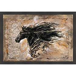 Marta G. Wiley 'Black Beauty' Framed Print Art
