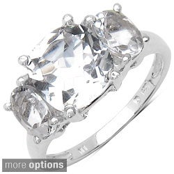 Malaika Sterling Silver Cushion-cut Gemstone Ring