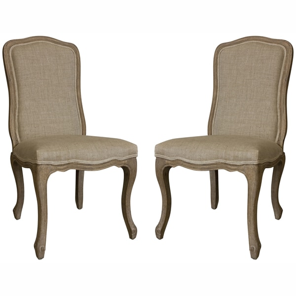 nuLOOM Casual Living Weathered Vintage French Upholstered Dining Chairs (Set of 2)
