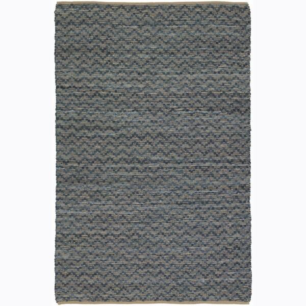 Casual Handwoven Mandara Tan Rug (7'9 x 10'6)
