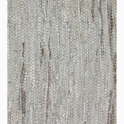 Hand-woven Mandara Grey Rug (7'9 x 10'6)