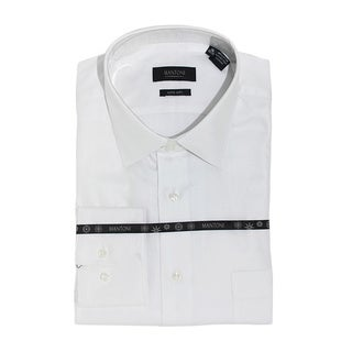 Men's White Fine Solid Twill Cotton Shirt
