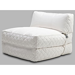 Austin White Bean Bag Chair Bed