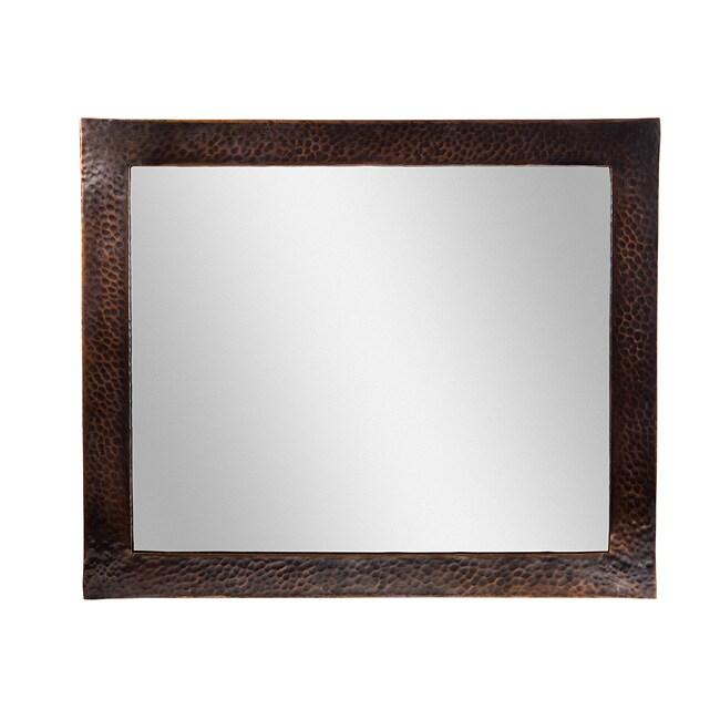 Hammered Copper Rectangular Mirror