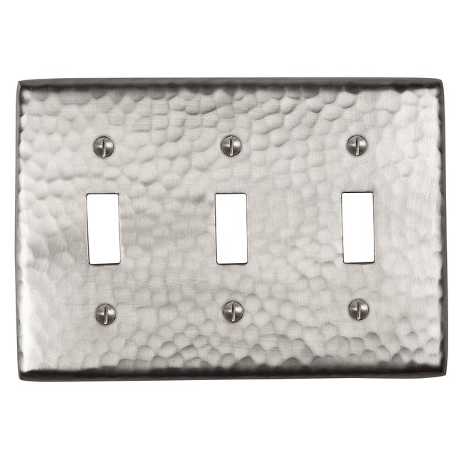 The Copper Factory Solid Copper Triple Switch Plate Cover