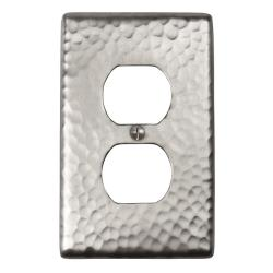 Solid Copper Single Duplex Receptacle Plate (Set of 2)
