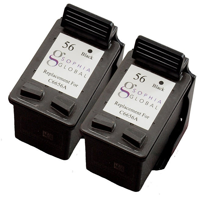 HP 56 Black Ink Cartridge (Pack of 2) (Remanufactured)