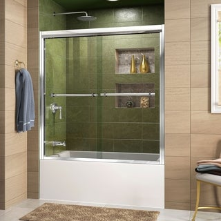 DreamLine Duet 56-59 x 58 Frameless Bypass Sliding Tub Door