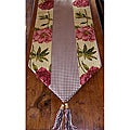 RLF Home Ashton Peony Paprika Tasseled Table Runner
