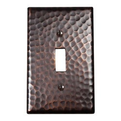 Copper Factory Solid Copper Single Switch Plate - Set of 2
