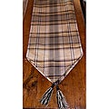 RLF Home Galahad Chestnut Tasseled Table Runner