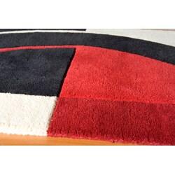 Hand Tufted Metropolitan Black Rug (3'6 x 5'6)